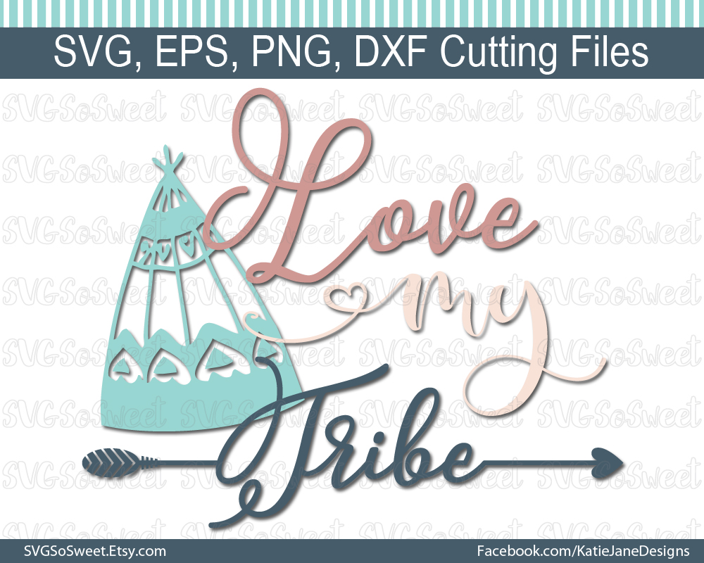 Love My Tribe SVG Graphic Crafts By Southern Belle Graphics - Image 1