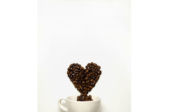 Love at First Cup Graphic Food & Drinks By Sasha_Brazhnik