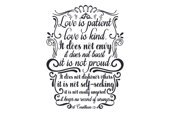 Download Free Love Is Patient Love Is Kind Svg Plotterdatei Von Creative for Cricut Explore, Silhouette and other cutting machines.