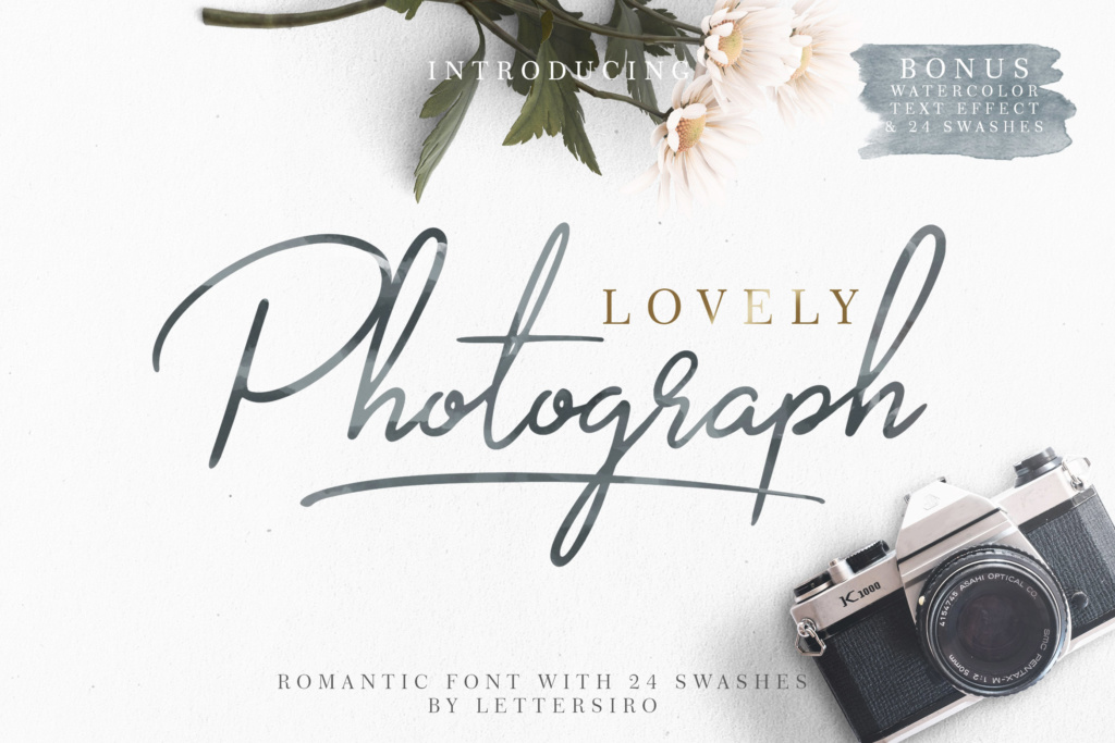Download Free Lovely Photograph Schriftarten Von Lettersiro Co Creative Fabrica for Cricut Explore, Silhouette and other cutting machines.