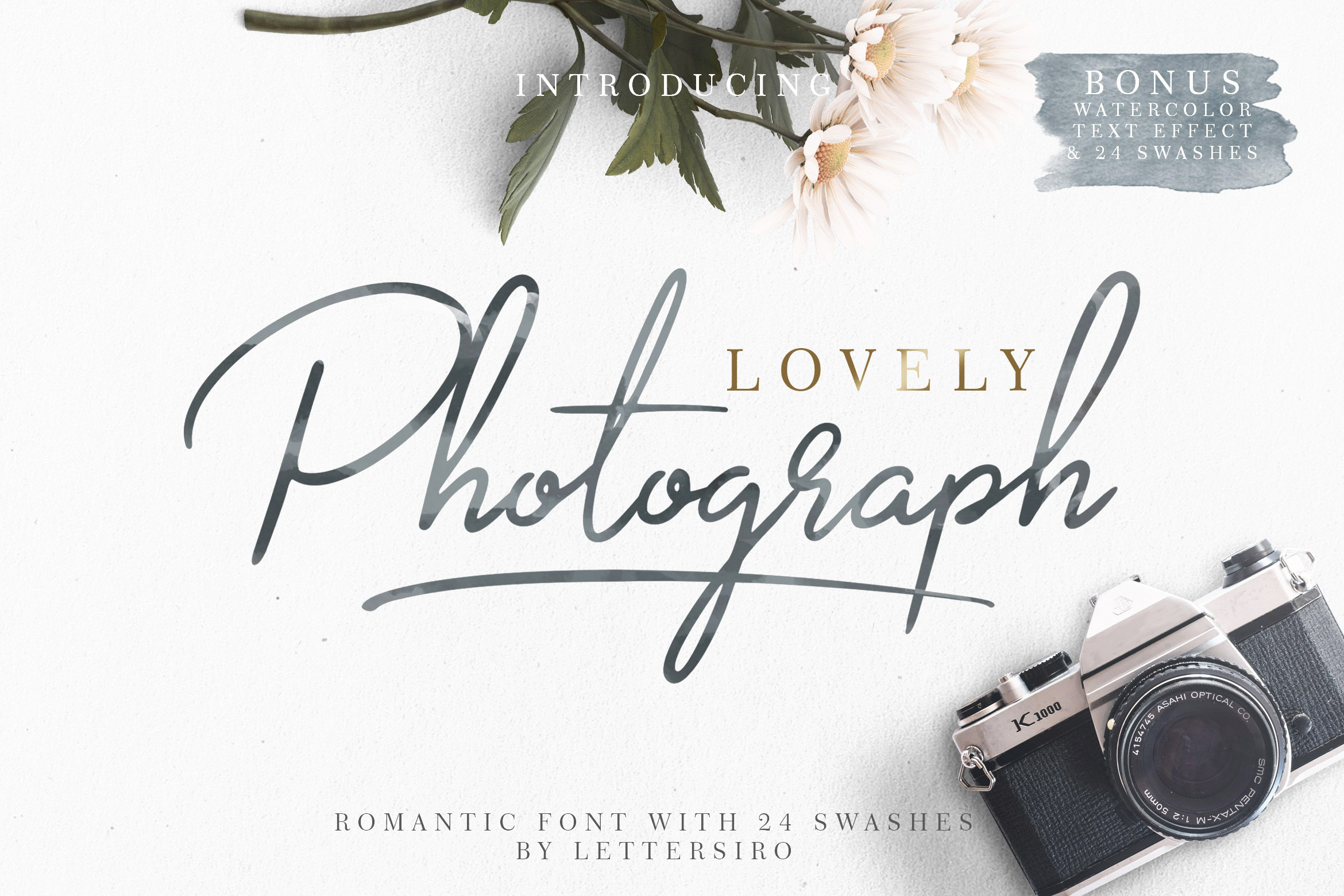 Print on Demand: Lovely Photograph Script & Handwritten Font By Lettersiro Co.