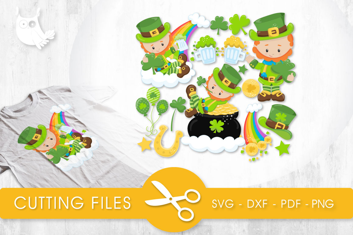 Download Free Lucky Leprechauns Graphic By Prettycuttables Creative Fabrica for Cricut Explore, Silhouette and other cutting machines.