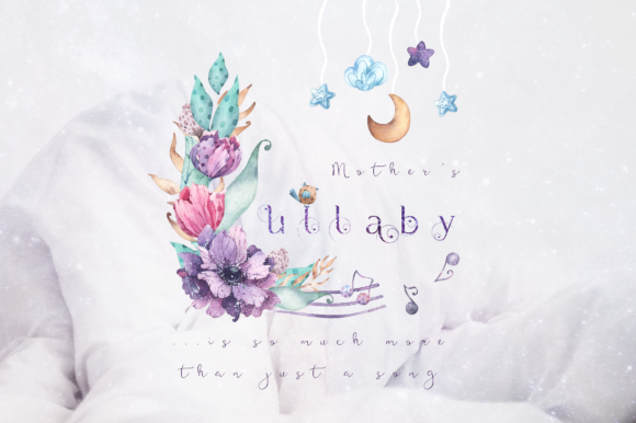 Print on Demand: Lullaby - Watercolor Illustrations Nursery Collection Graphic Illustrations By tatianatroian.art