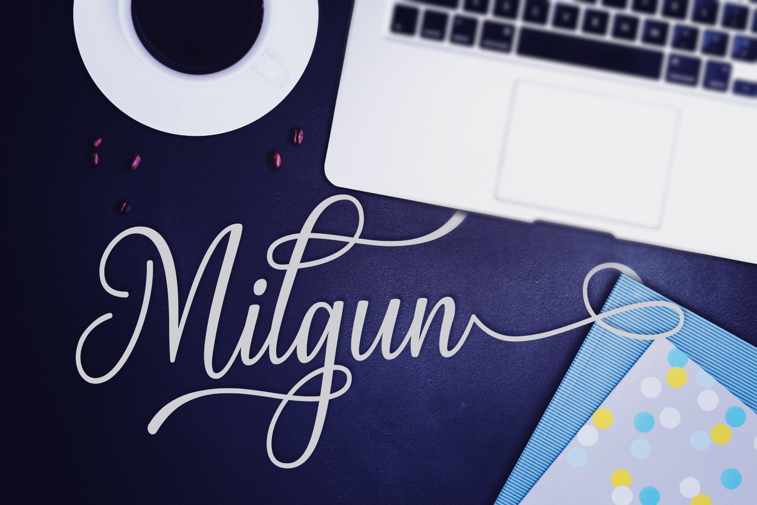 Print on Demand: Milgun Script & Handwritten Font By Andrian Dehasta