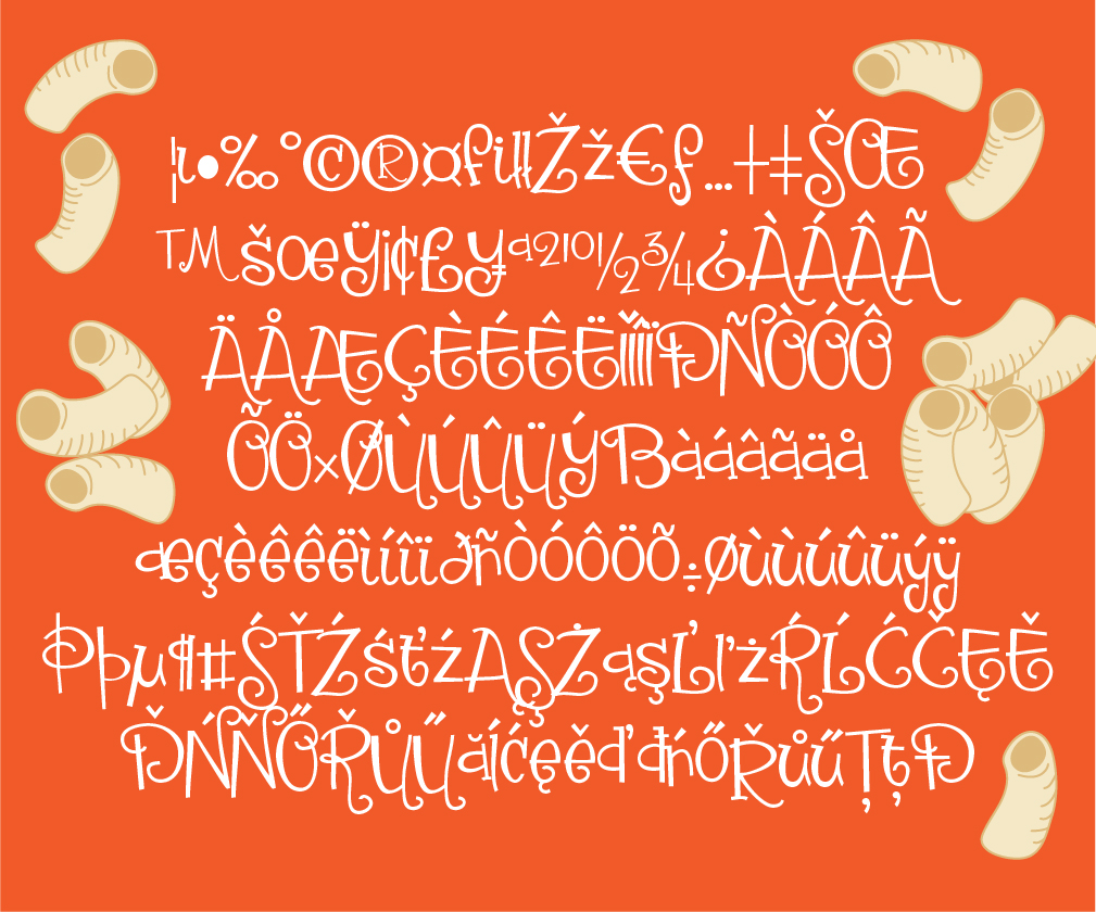Download Free Macaroni Salad Font By Illustration Ink Creative Fabrica for Cricut Explore, Silhouette and other cutting machines.