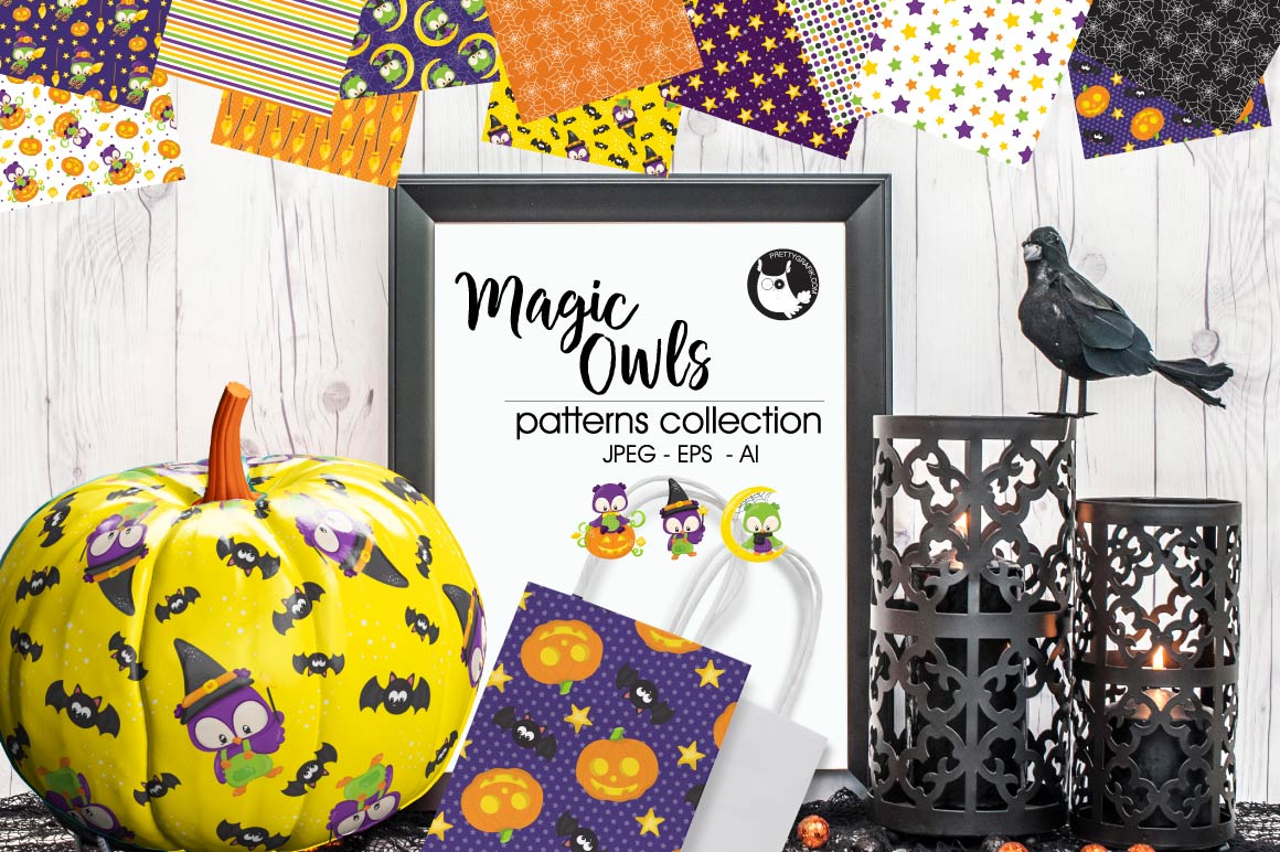 Print on Demand: Magic Owls Graphic Patterns By Prettygrafik