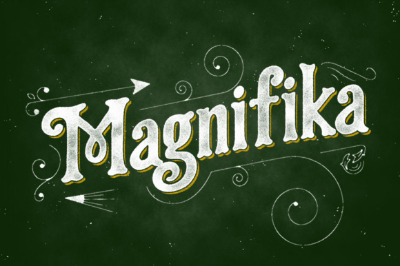 Print on Demand: Magnifika Display Font By Adam Fathony