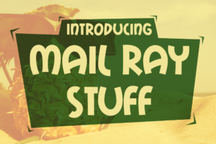 Mail Ray Stuff Font By Typodermic