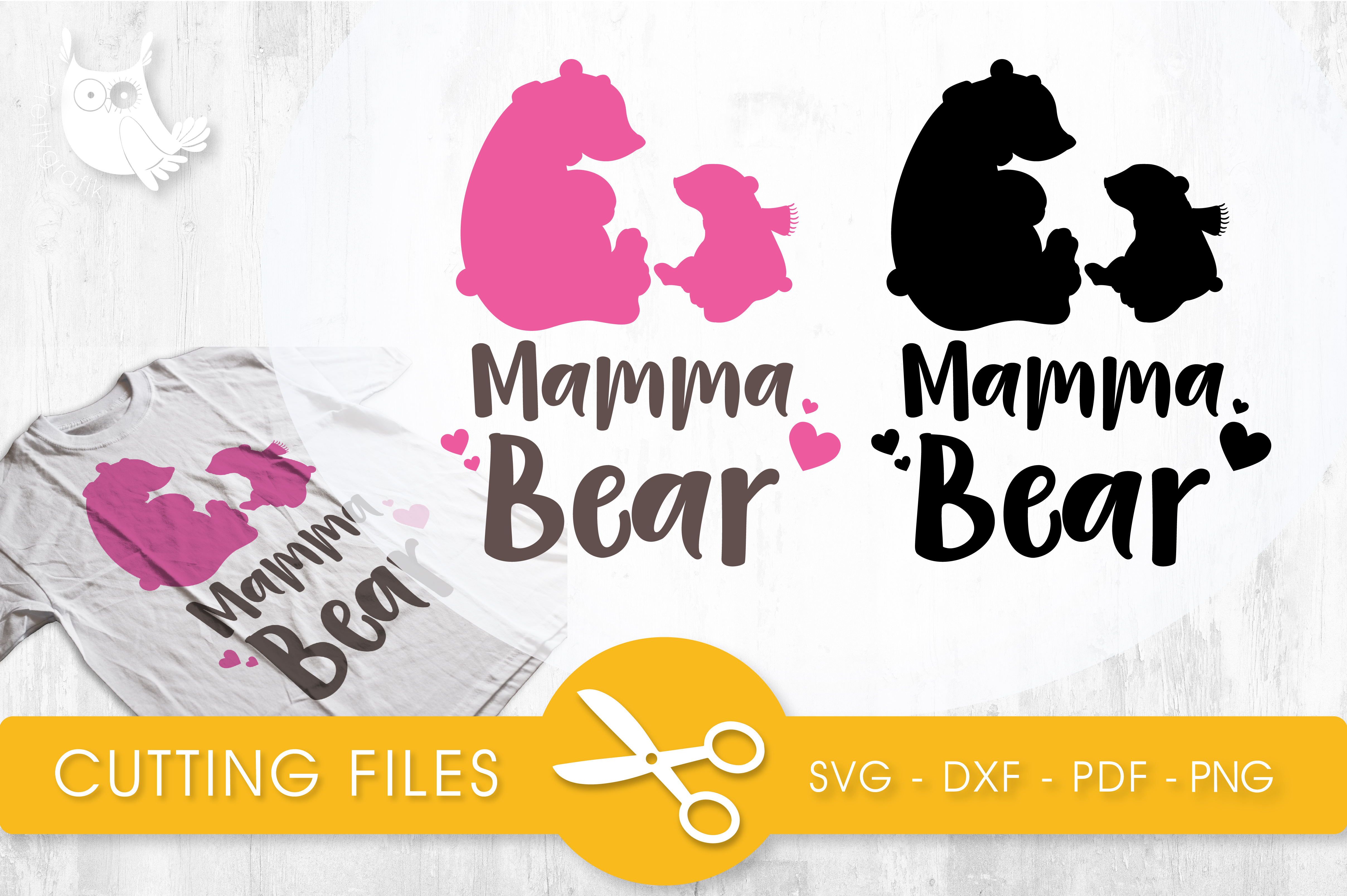 Mama Bear Graphic Crafts By PrettyCuttables