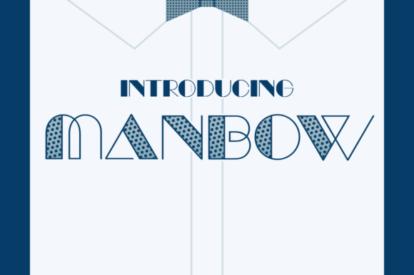Print on Demand: Manbow Display Font By Typodermic
