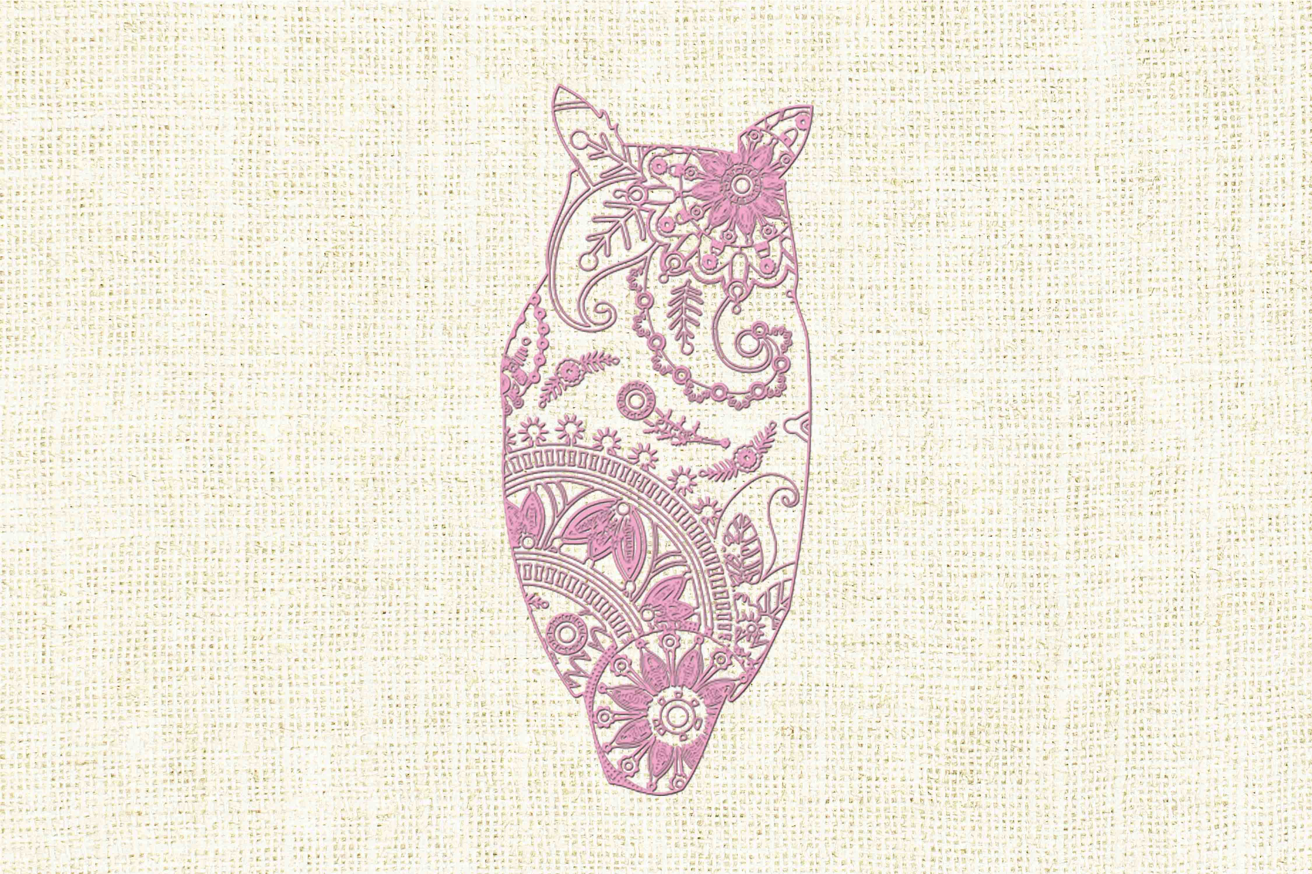 Download Free Mandala Owl Graphic By Twelvepapers Creative Fabrica for Cricut Explore, Silhouette and other cutting machines.