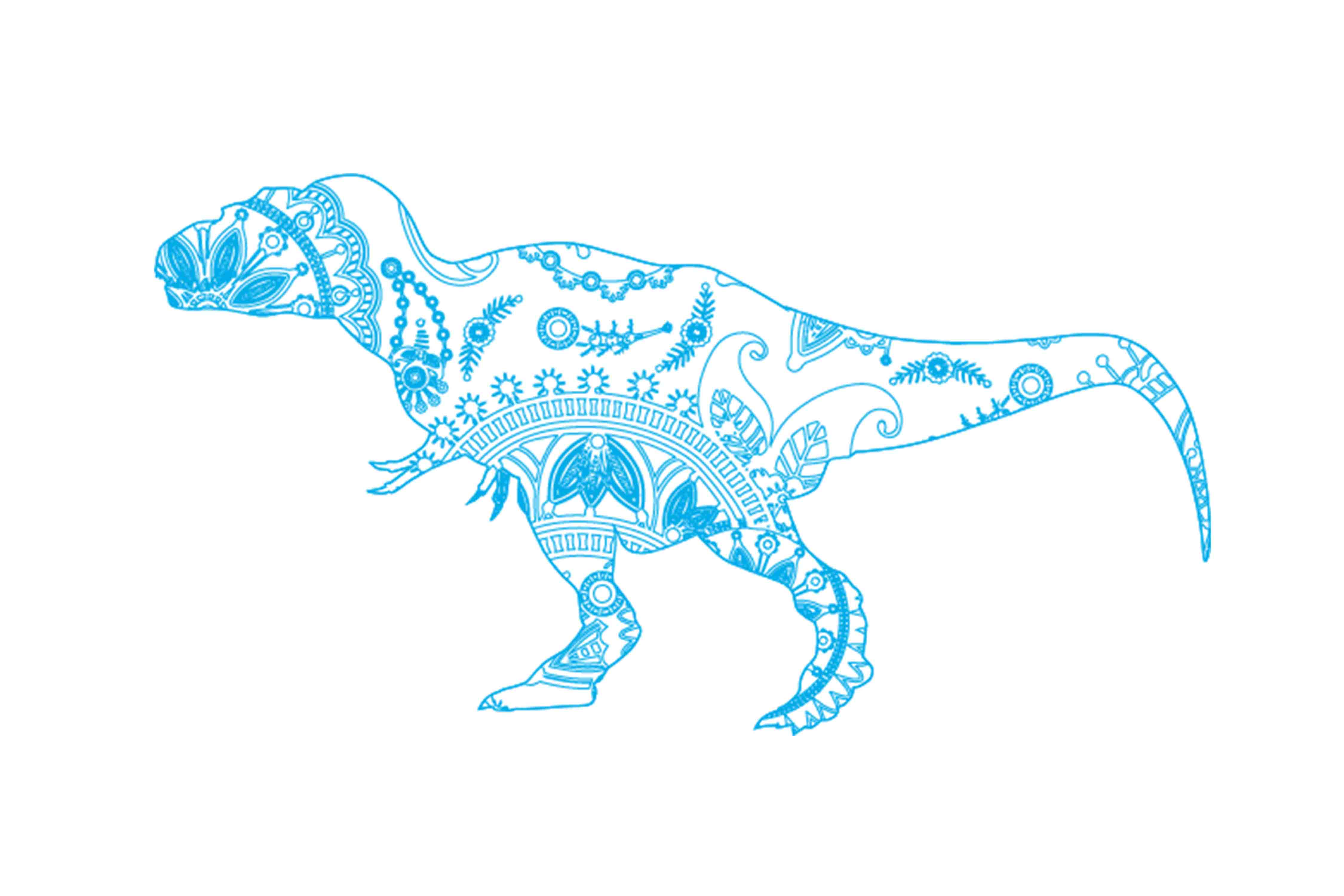 Download Free Mandala Dinosaur Graphic By Twelvepapers Creative Fabrica for Cricut Explore, Silhouette and other cutting machines.