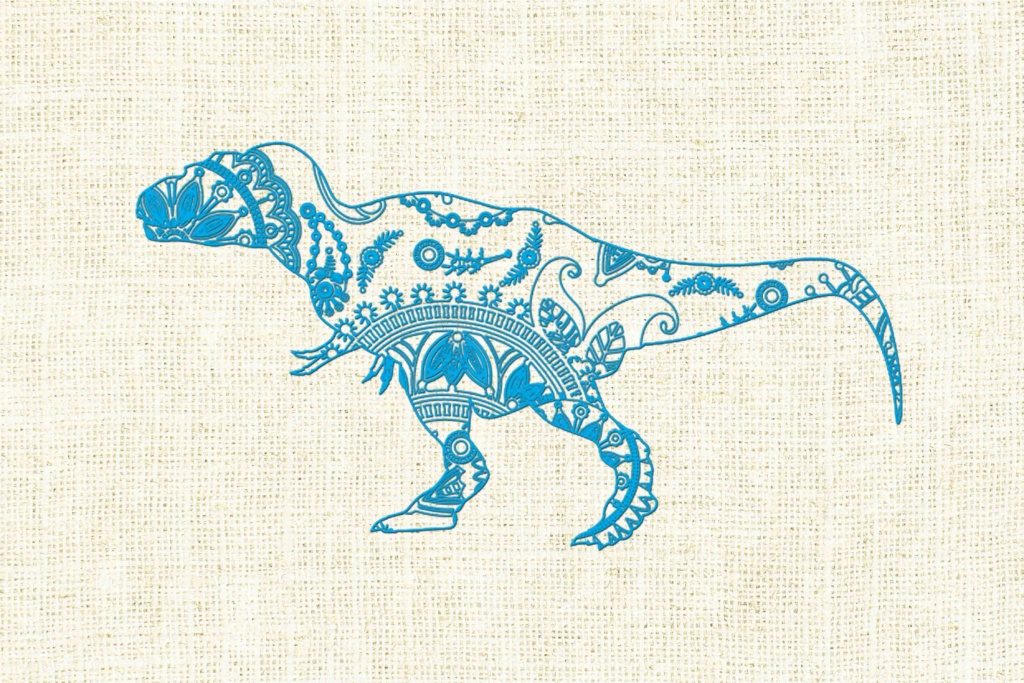 Mandala Dinosaur Graphic By Twelvepapers Creative Fabrica