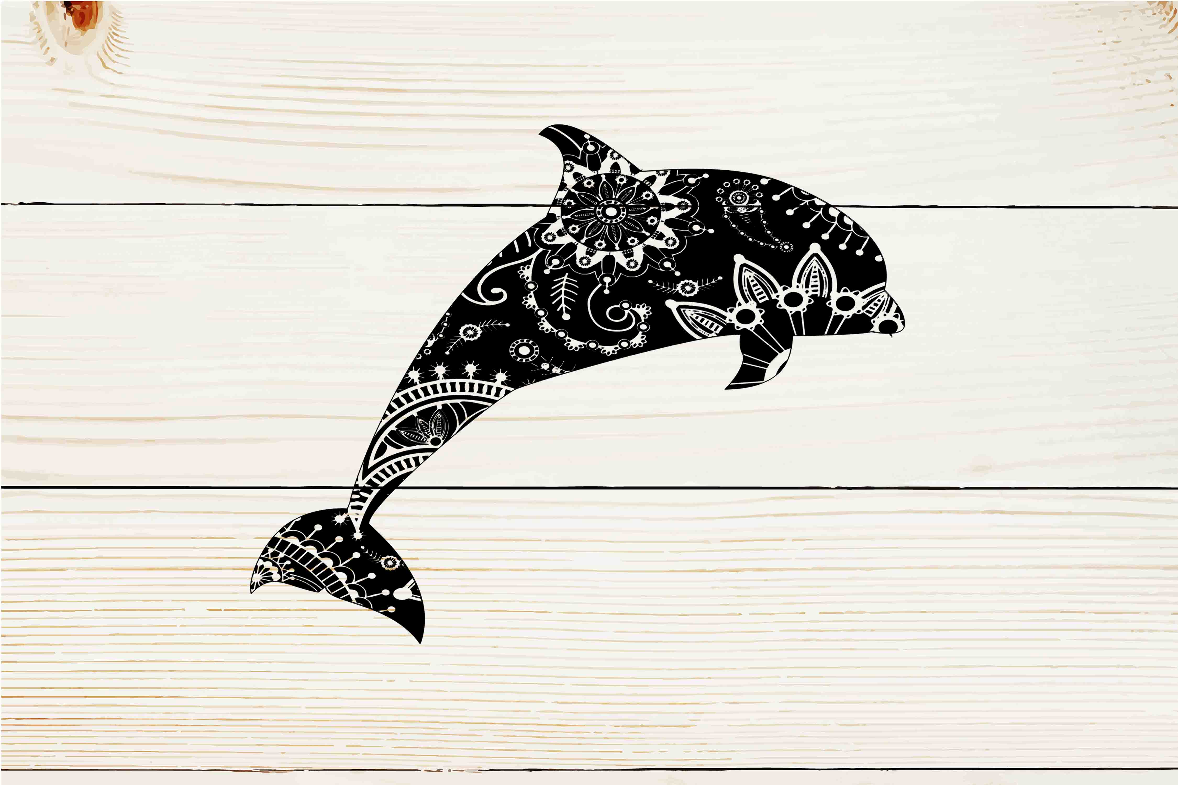 Download Free Mandala Dolphin Graphic By Twelvepapers Creative Fabrica for Cricut Explore, Silhouette and other cutting machines.