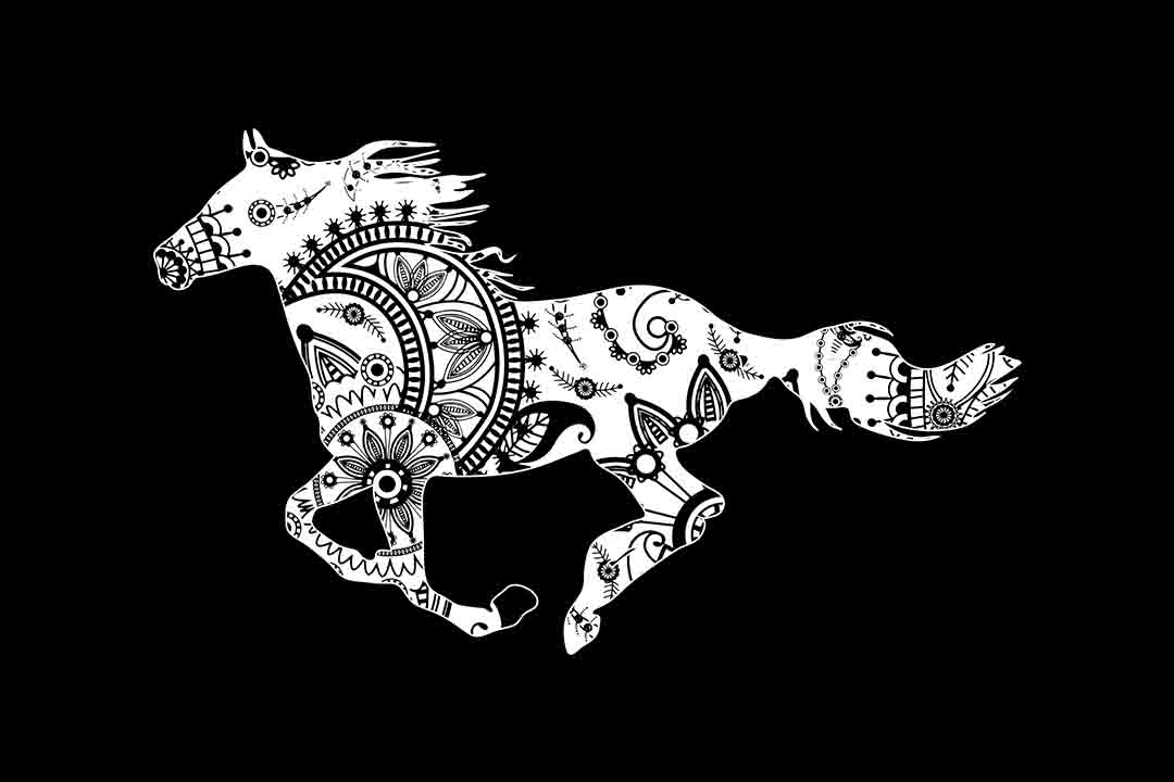 Mandala Horse SVG DXF EPS PNG AI Graphic Illustrations By twelvepapers - Image 2