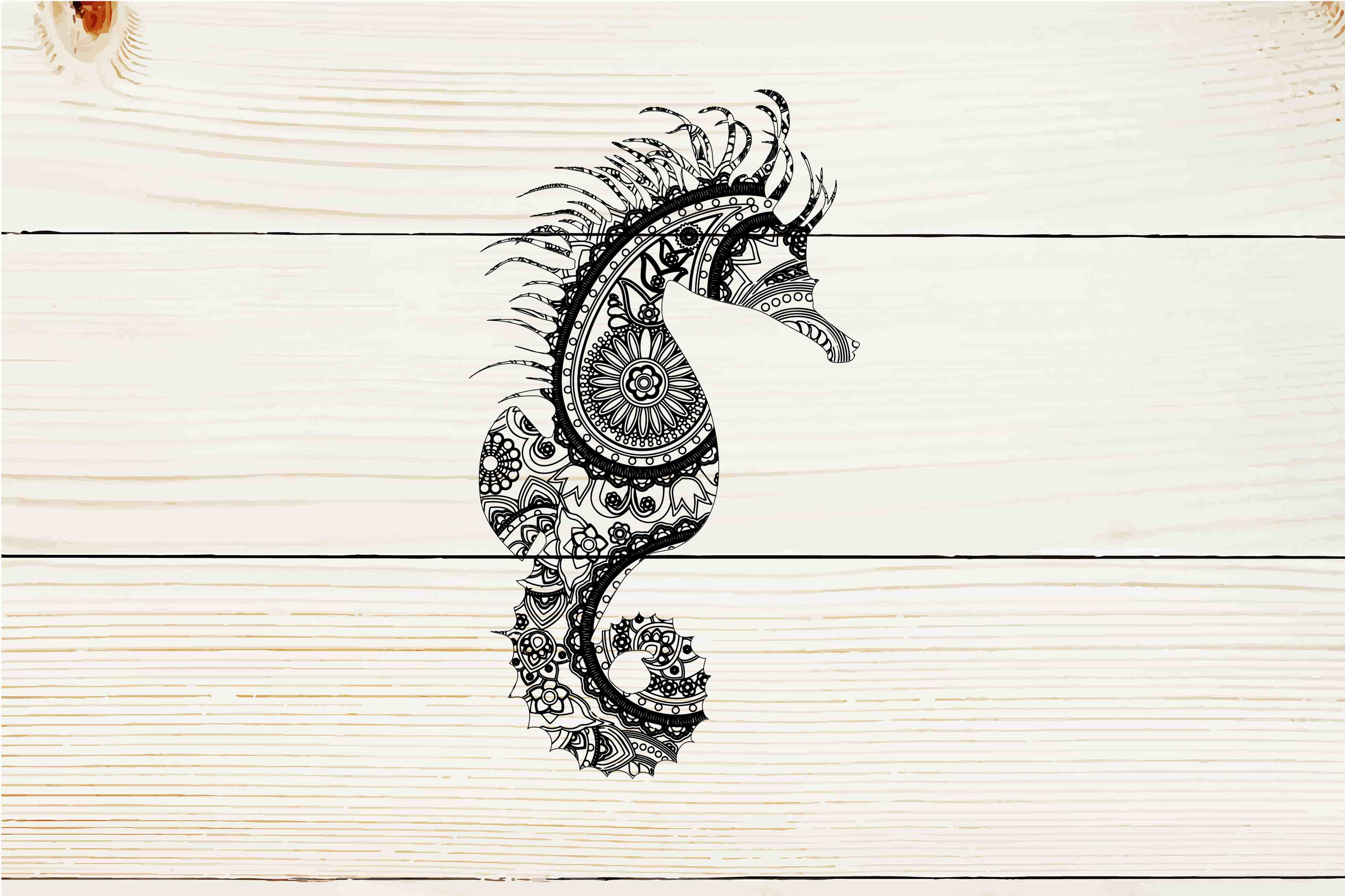 Download Free Mandala Seahorse Graphic By Twelvepapers Creative Fabrica for Cricut Explore, Silhouette and other cutting machines.