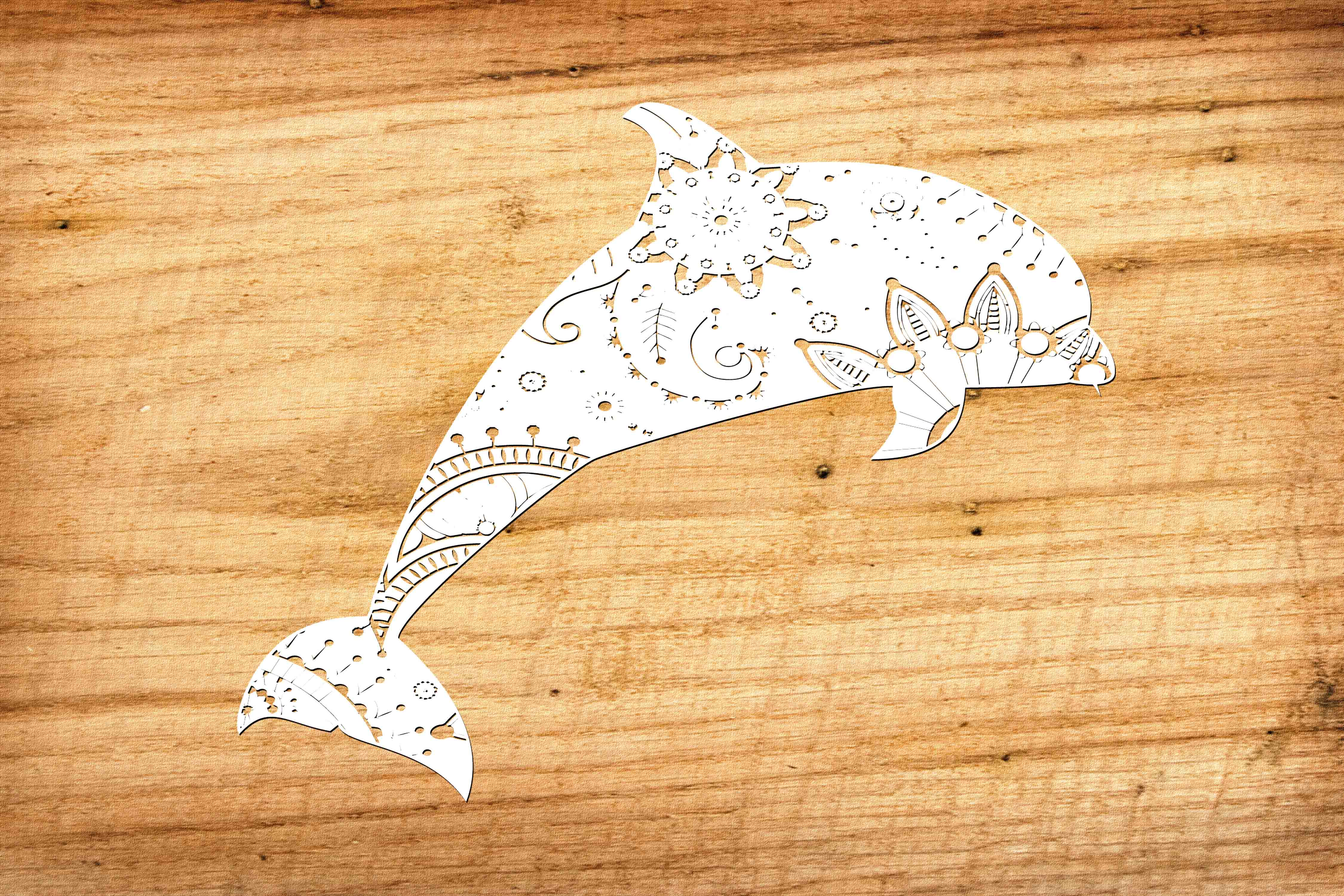 Download Free Mandala White Dolphin Svg Dxf Png Eps Grafico Por Twelvepapers for Cricut Explore, Silhouette and other cutting machines.