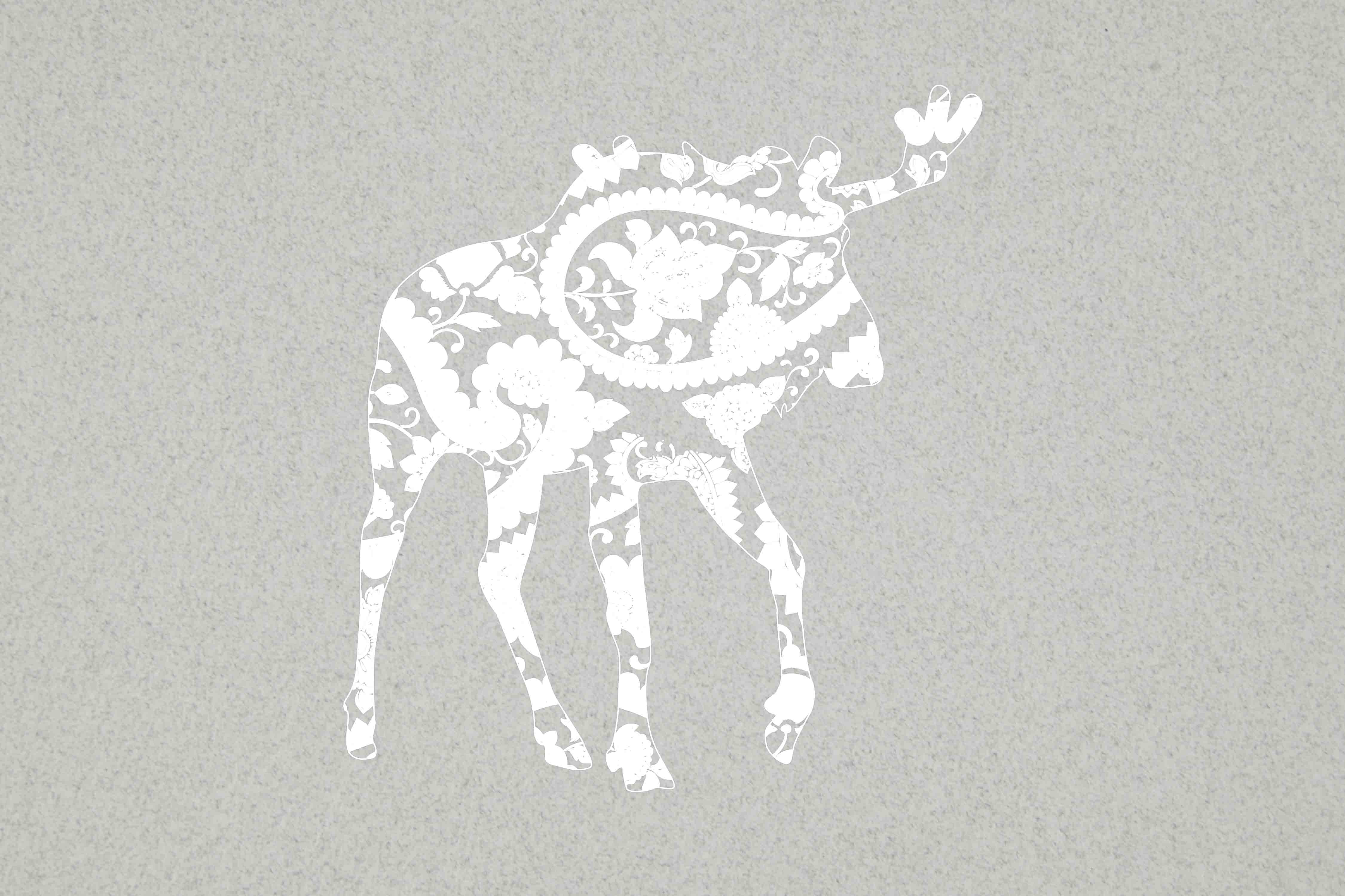 Download Free Mandala White Moose Svg Graphic By Twelvepapers Creative Fabrica for Cricut Explore, Silhouette and other cutting machines.