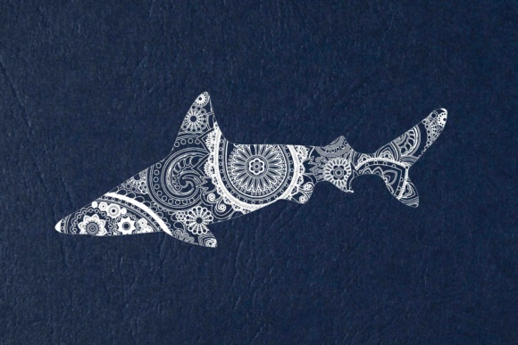 Mandala White Shark  Graphic Illustrations By twelvepapers