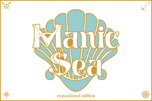 Print on Demand: ManicSea Decorative Font By sabanovicid