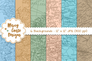 Map Backgrounds Graphic By MarcyCoateDesigns