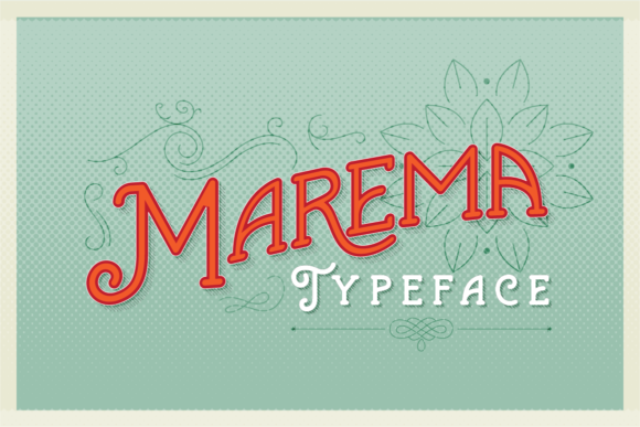 Print on Demand: Marema Display Font By Adam Fathony
