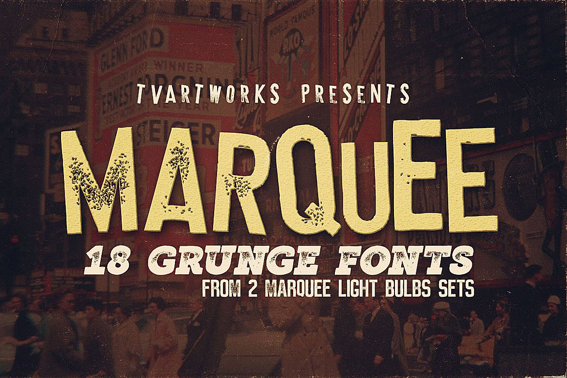 Print on Demand: Marquee Display Font By tvartworks