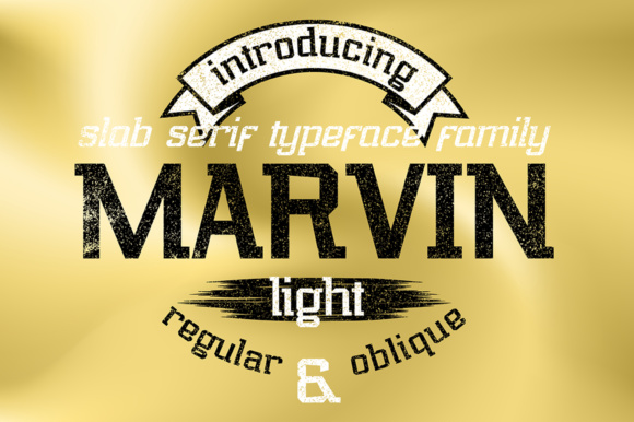 Print on Demand: Marvin Light Slab Serif Font By NREY