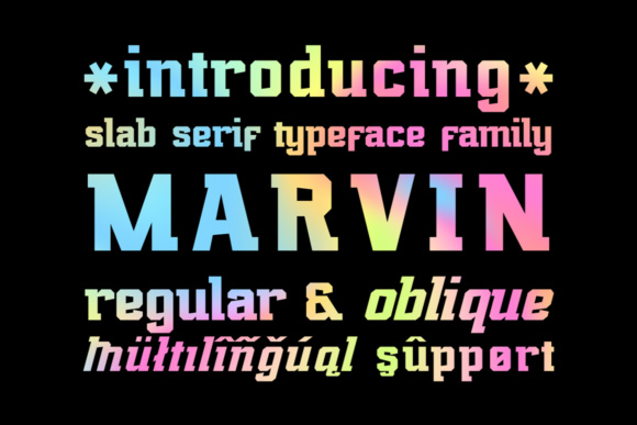 Print on Demand: Marvin Regular Slab Serif Font By NREY - Image 1