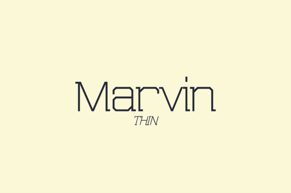 Print on Demand: Marvin Thin Slab Serif Font By NREY