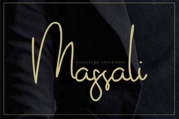 Print on Demand: Massali Script & Handwritten Font By mrkhoir012