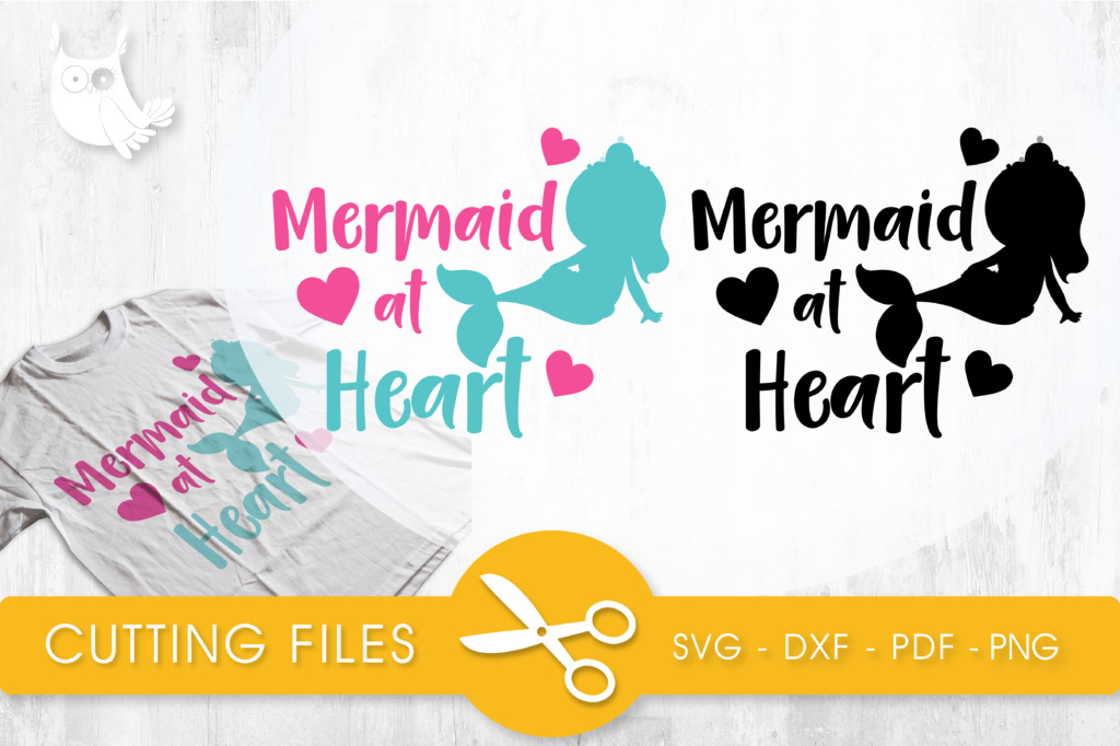 Mermaid At Heart Graphic By Prettycuttables Creative Fabrica