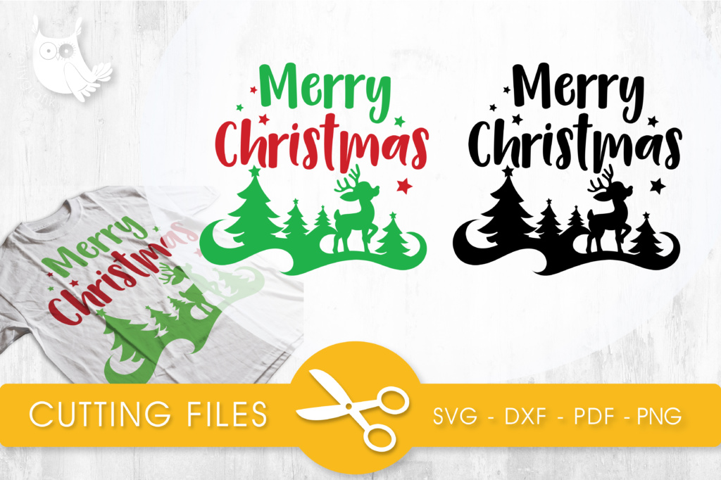 Download Free Merry Christmas Graphic By Prettycuttables Creative Fabrica for Cricut Explore, Silhouette and other cutting machines.