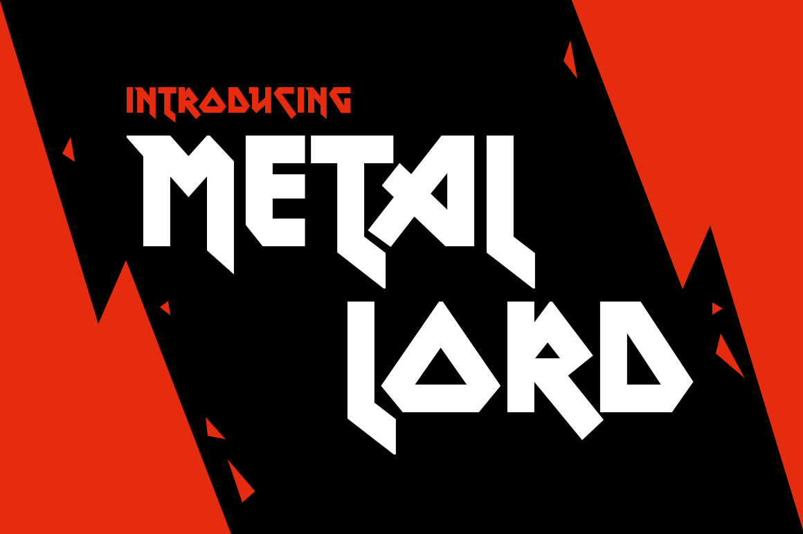 Print on Demand: Metal Lord Display Font By Creative Fabrica Freebies