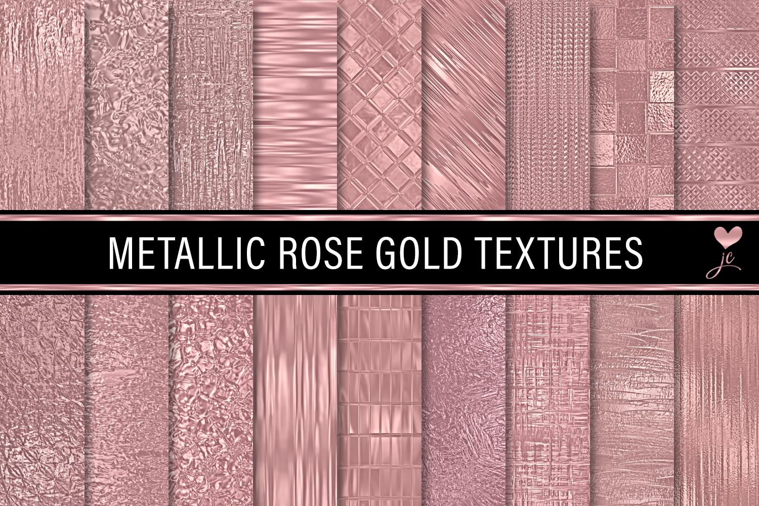 Print on Demand: Metallic Rose Gold Textures Graphic Textures By JulieCampbellDesigns