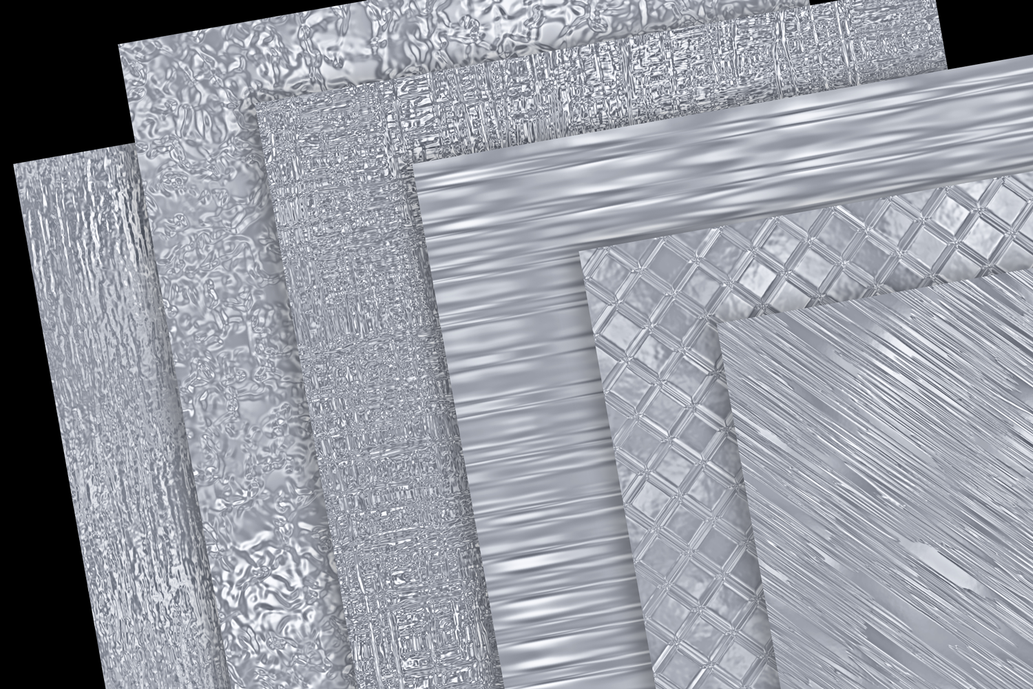 Print on Demand: Metallic Silver Textures Graphic Textures By JulieCampbellDesigns - Image 2