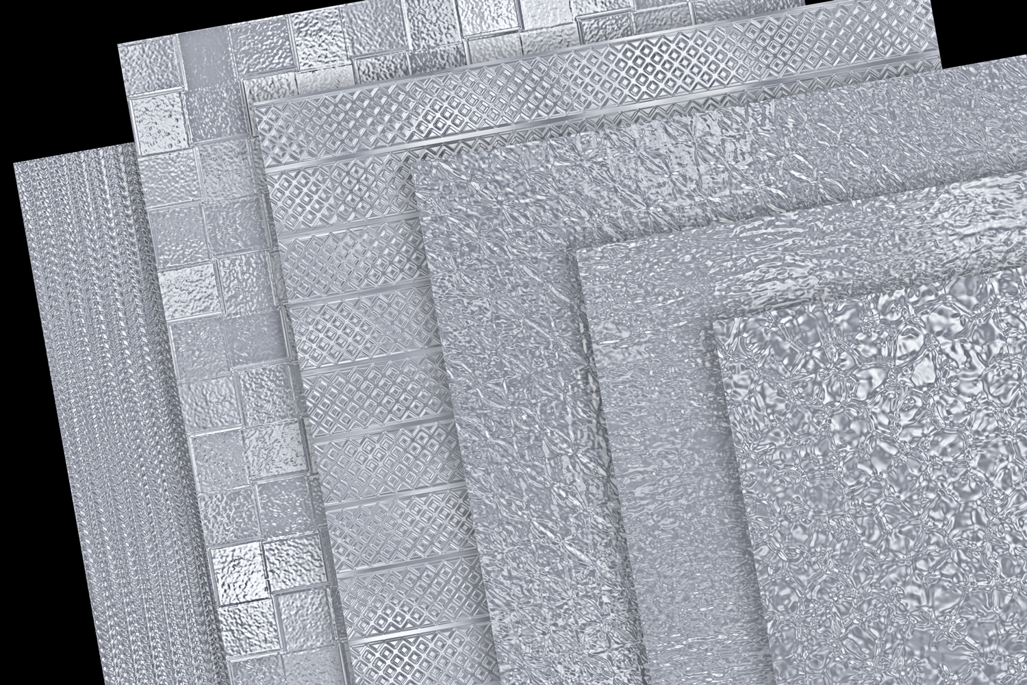 Print on Demand: Metallic Silver Textures Graphic Textures By JulieCampbellDesigns - Image 3