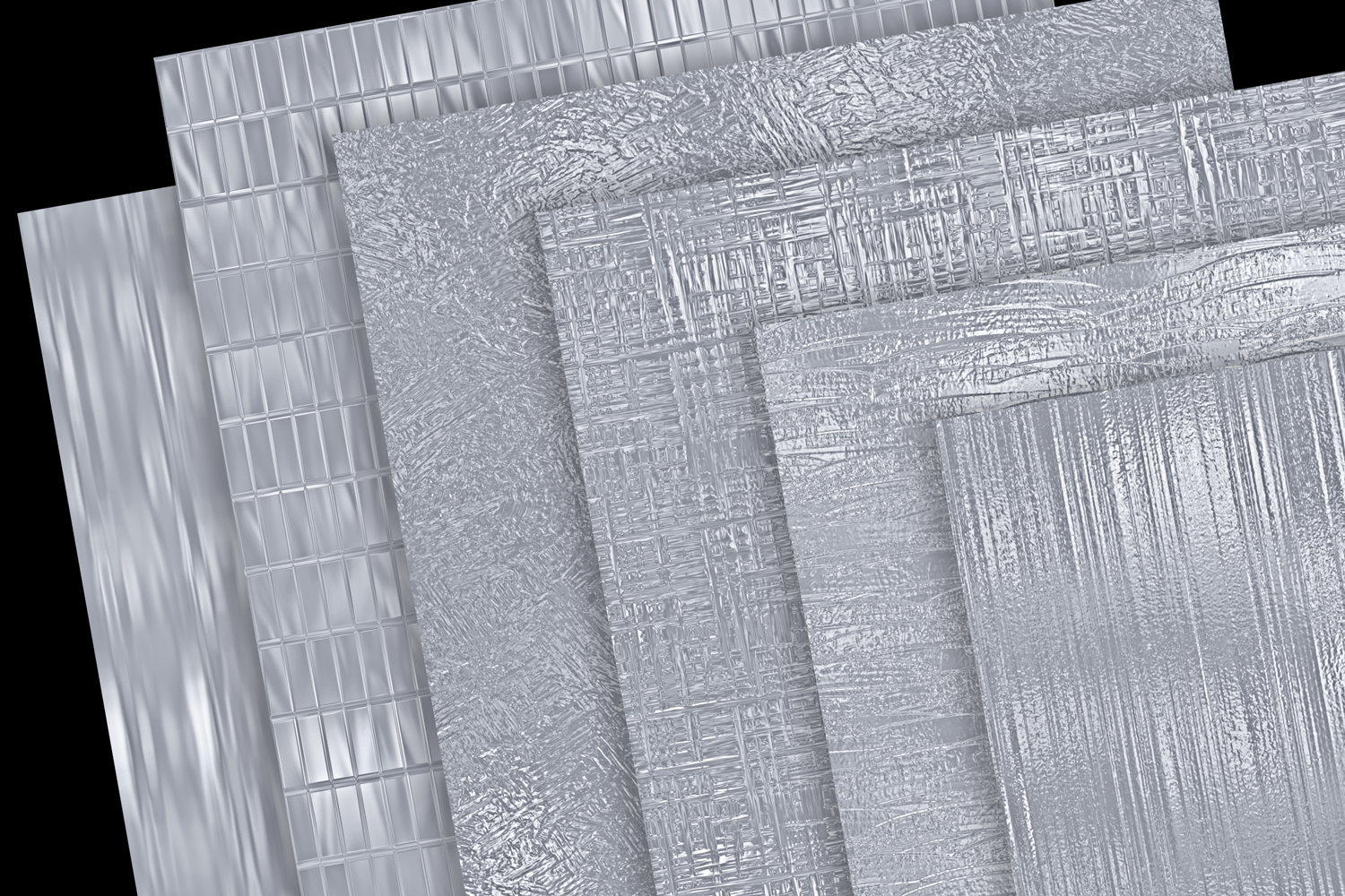 Print on Demand: Metallic Silver Textures Graphic Textures By JulieCampbellDesigns - Image 4