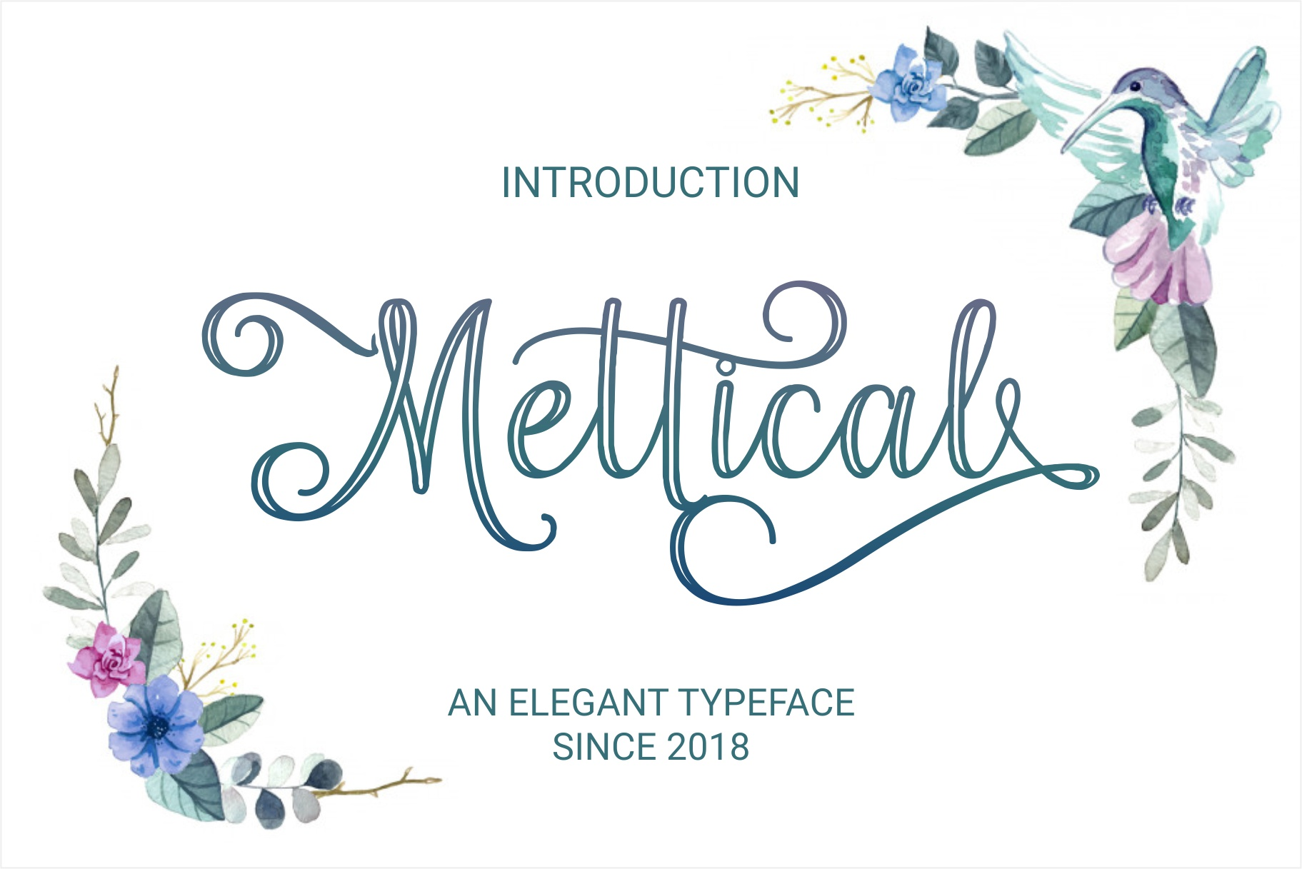 Print on Demand: Mettical Script & Handwritten Font By Wandani Creative