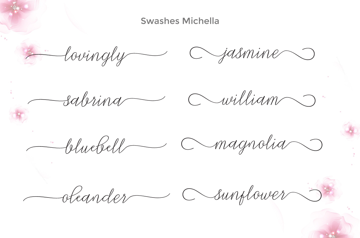 Print on Demand: Michella Script & Handwritten Font By Cooldesignlab - Image 10