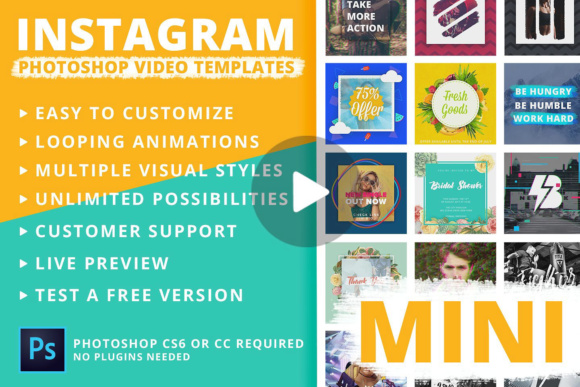 Mini - Instagram Video Templates Graphic By brandsparkdesigns