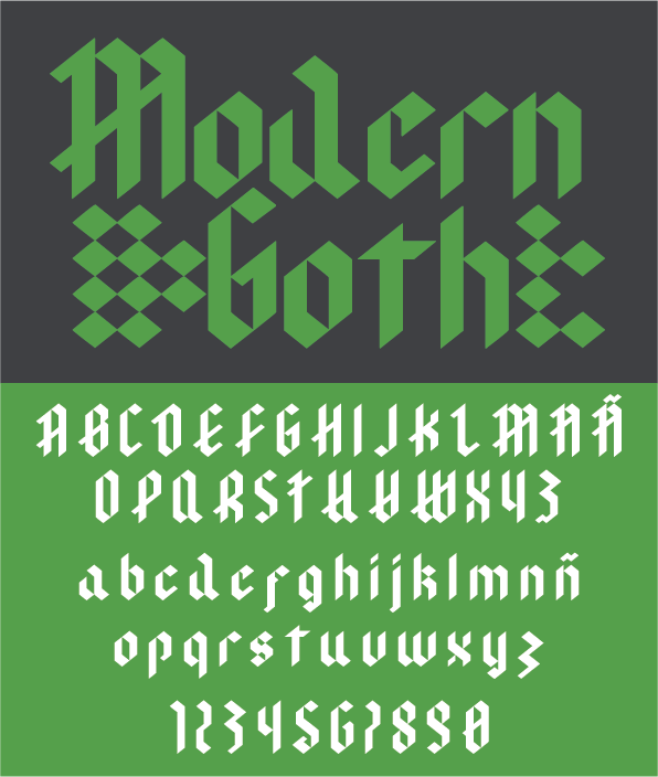 Print on Demand: Modern Goth Blackletter Fuente Por agustin.senatore