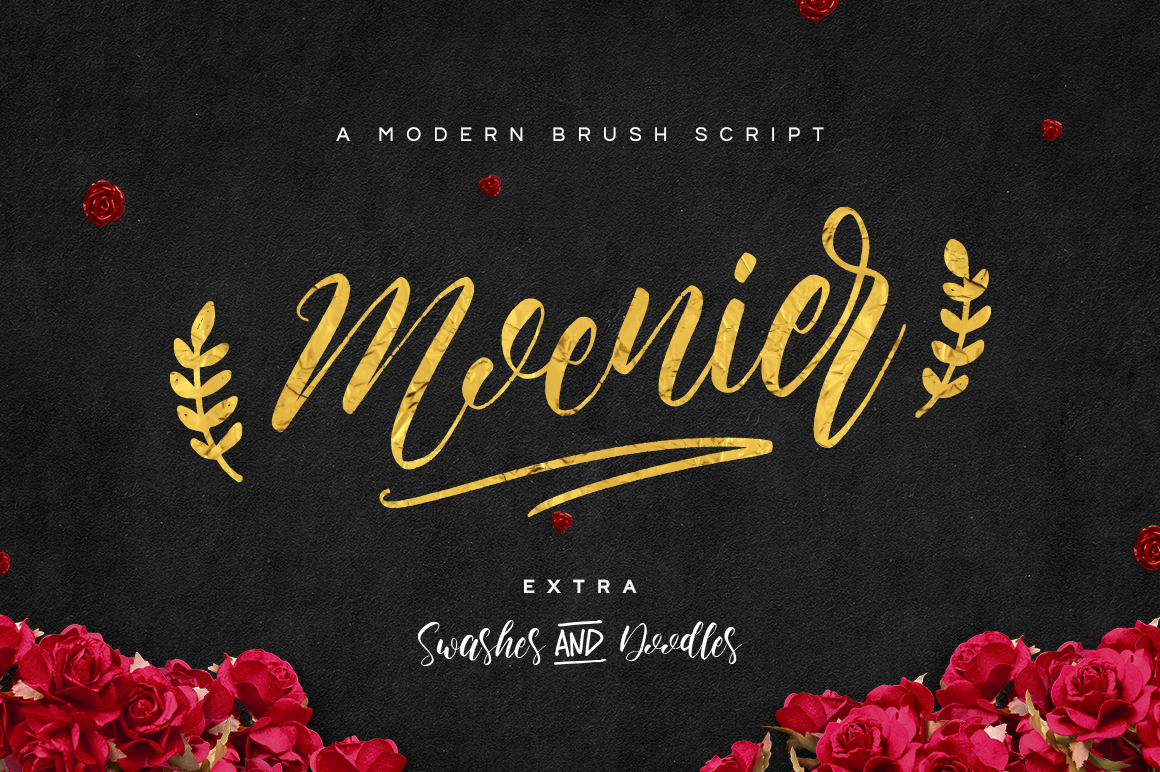 Print on Demand: Moenier Script & Handwritten Font By Hindia Studio