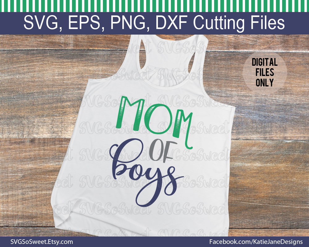 Mom of Boys SVG Graphic Crafts By Southern Belle Graphics - Image 2