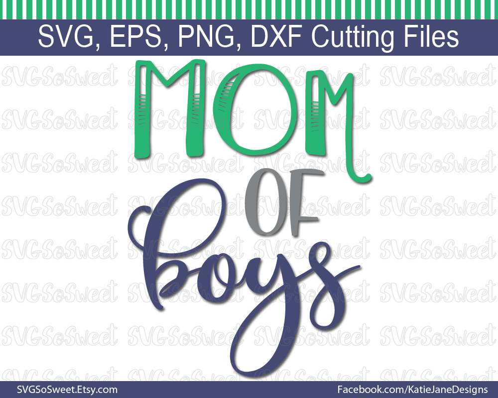 Mom of Boys SVG Graphic Crafts By Southern Belle Graphics - Image 1