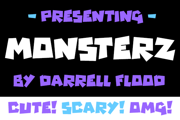 Print on Demand: Monsterz Display Font By Dadiomouse