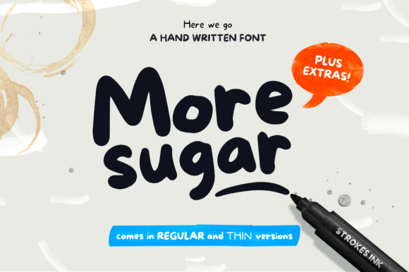 Print on Demand: More Sugar Sans Serif Font By mocosans
