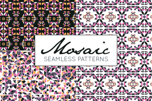 Print on Demand: Mosaic Pattern Collection - Seamless Digital Paper Graphic Patterns By illuztrate - Image 1
