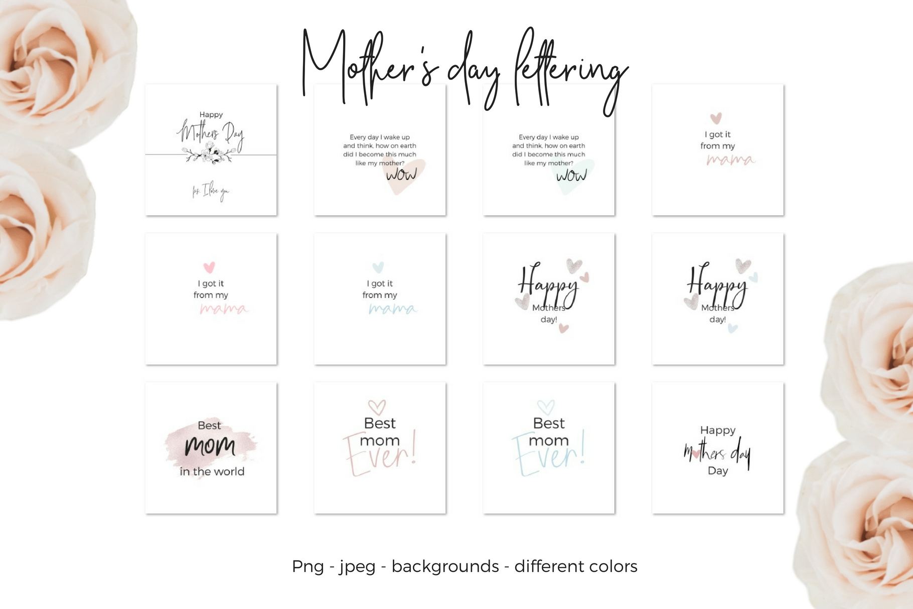 Mother's Day Lettering Graphic Web Elements By Creative Stash - Image 4