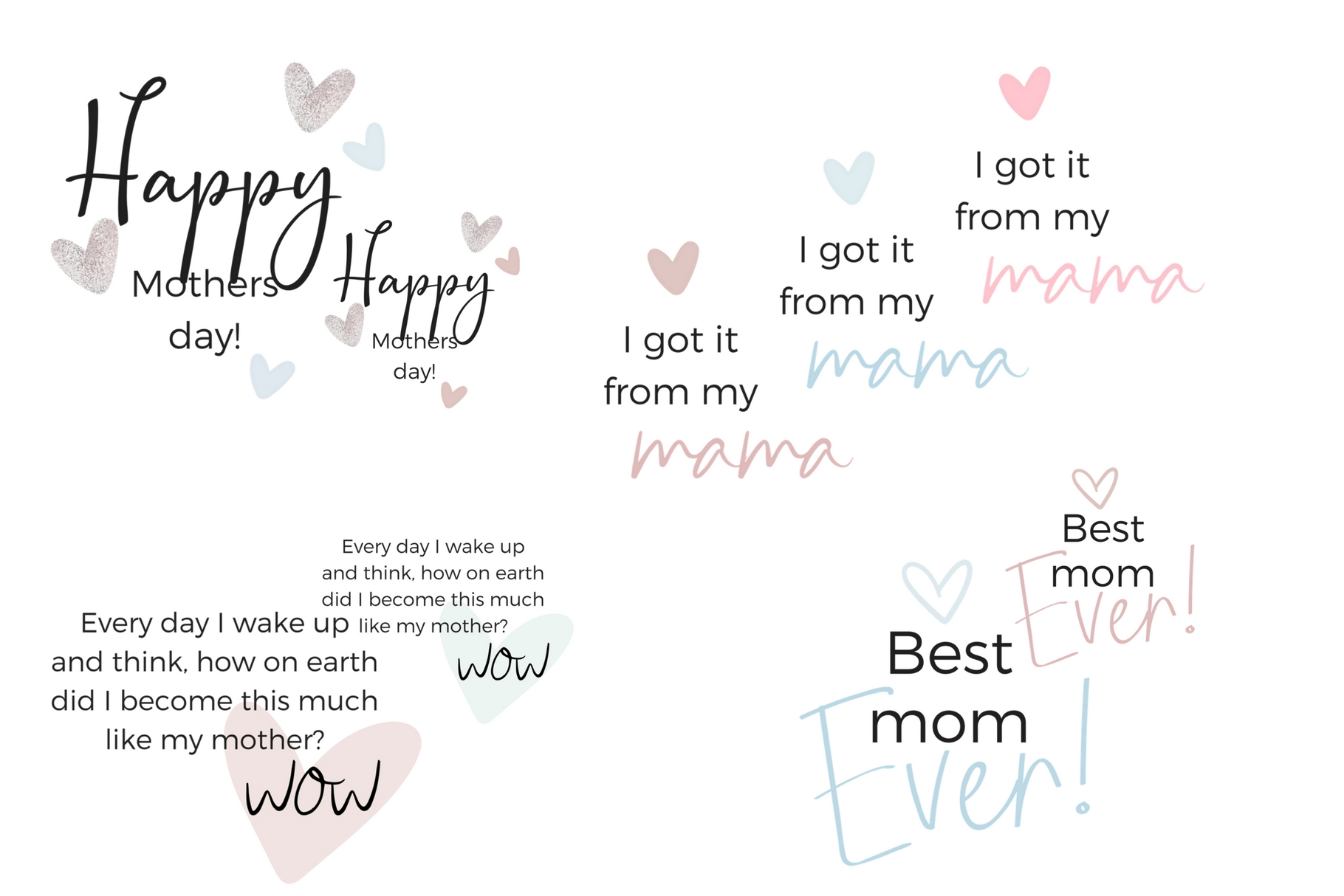Mother's Day Lettering Graphic Web Elements By Creative Stash - Image 8